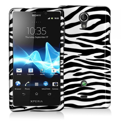 Sony Xperia TL Black / White Zebra Design Crystal Hard Case Cover