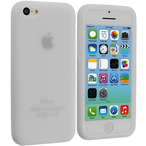 Apple iPhone 5C Clear Silicone Soft Skin Case Cover