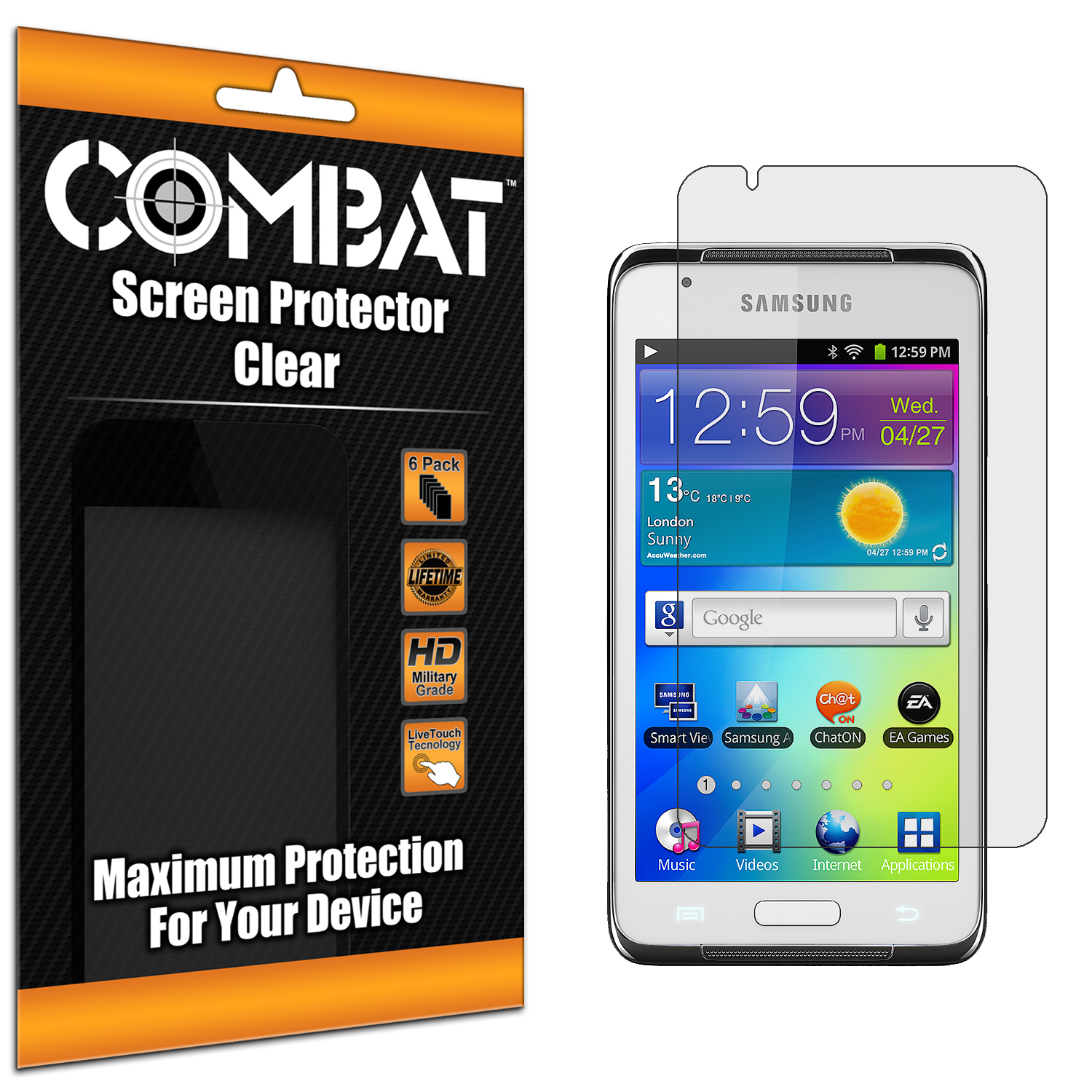 Samsung Galaxy Player 4.2 Combat 6 Pack HD Clear Screen Protector