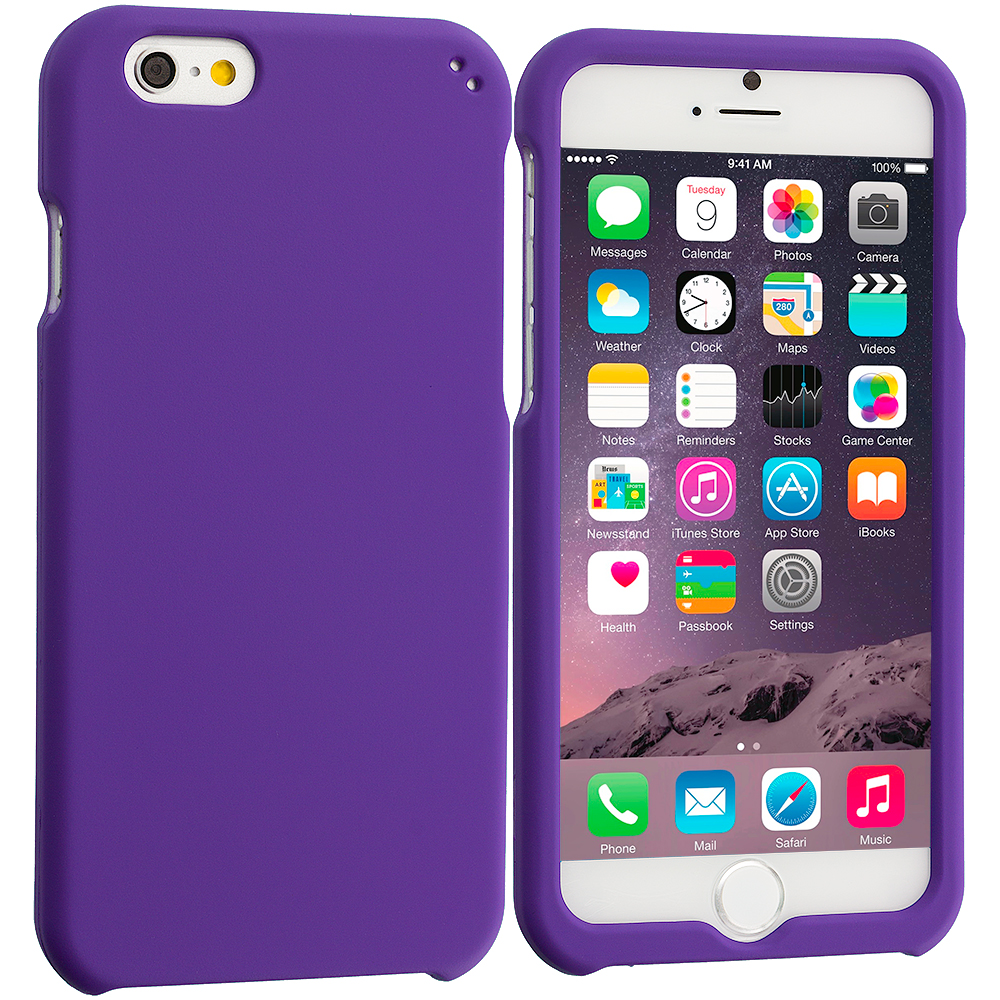 Apple iPhone 6 Plus 6S Plus (5.5) Purple Hard Rubberized Case Cover