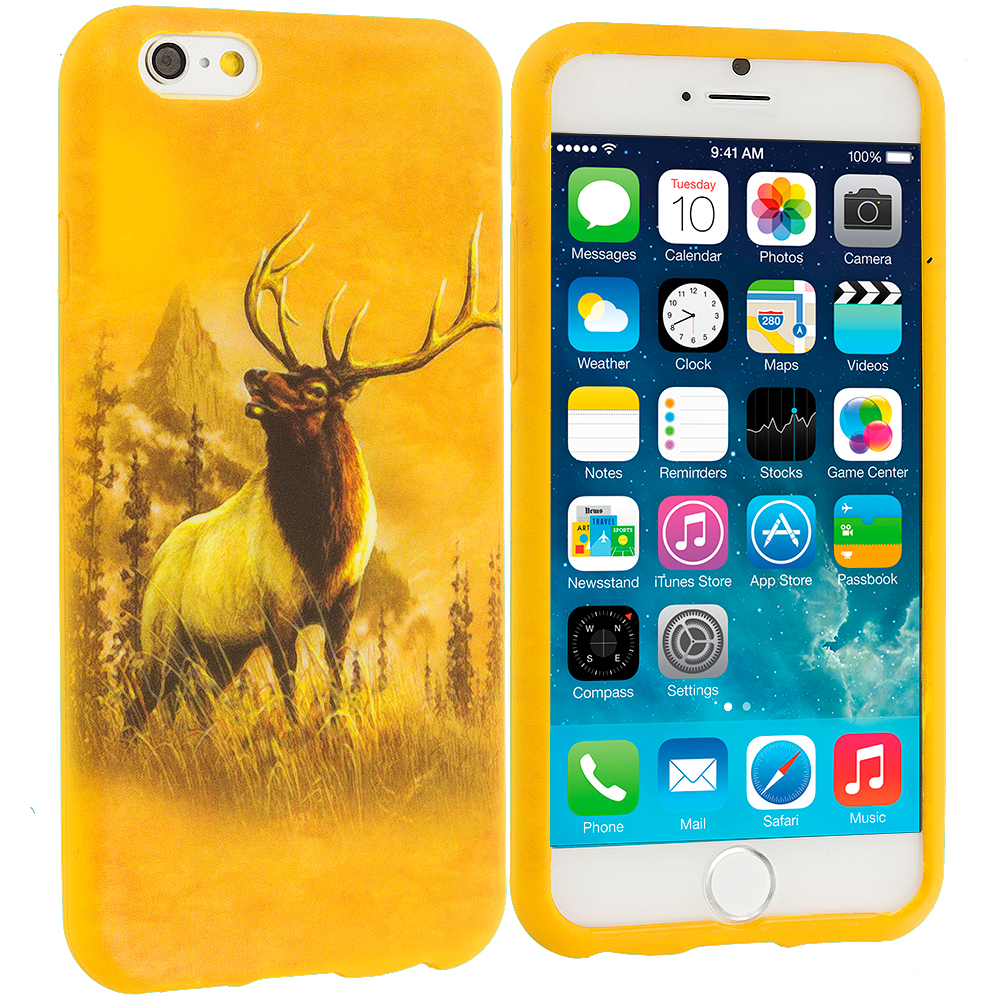 Apple iPhone 6 Plus 6S Plus (5.5) Deer TPU Design Soft Rubber Case Cover