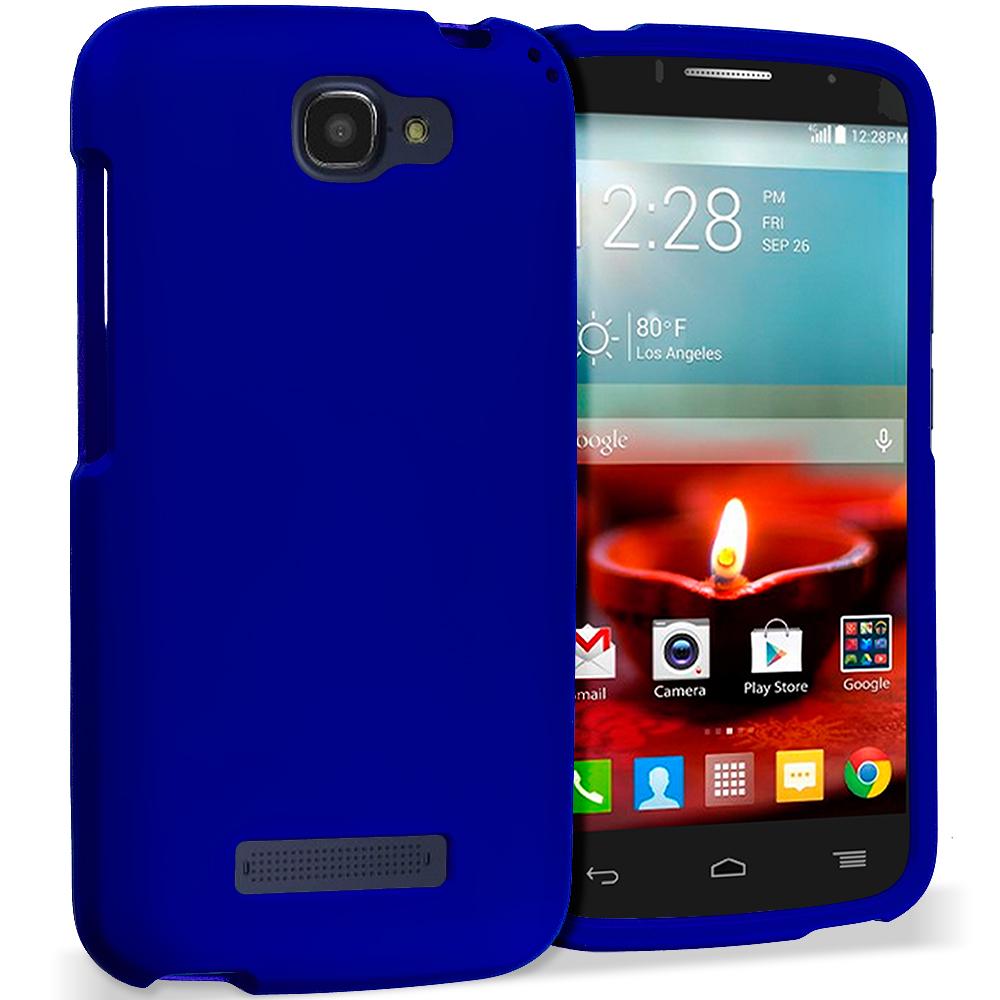 Alcatel One Touch Fierce 2 7040T Blue Hard Rubberized Case Cover
