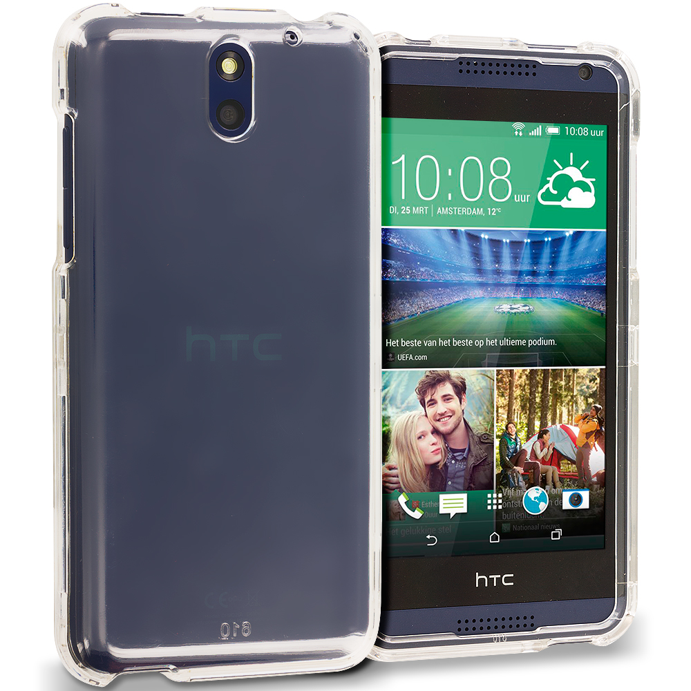 HTC Desire 610 Clear Crystal Transparent Hard Case Cover