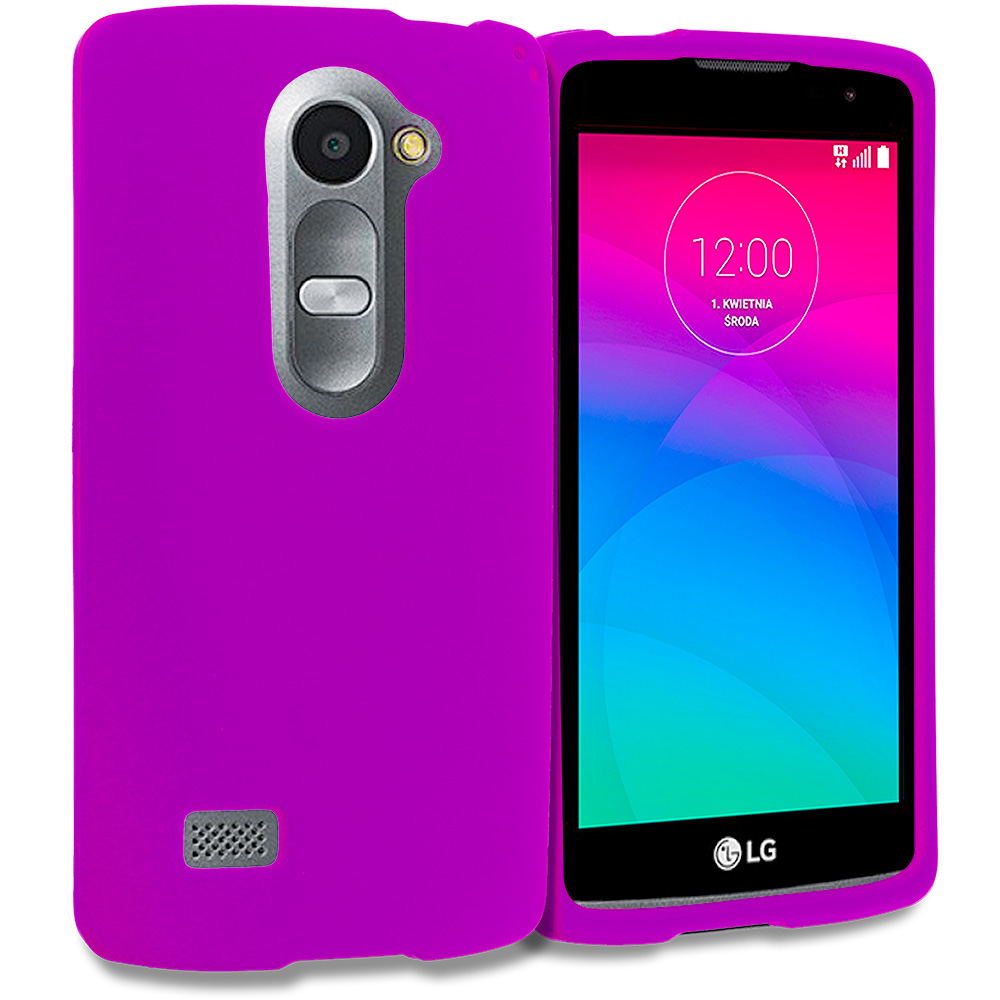 LG Tribute 2 Leon Power Destiny Purple Hard Rubberized Case Cover