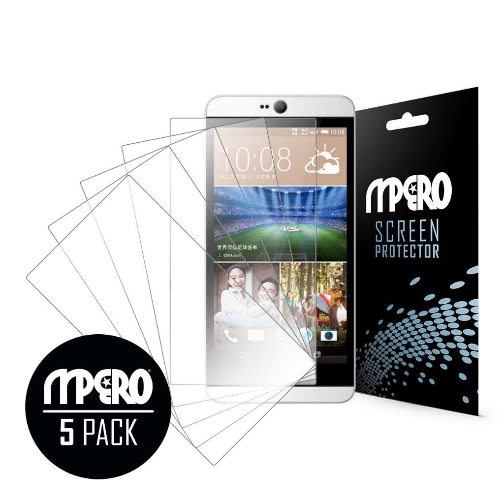 HTC Desire 826 MPERO 5 Pack of Ultra Clear Screen Protectors