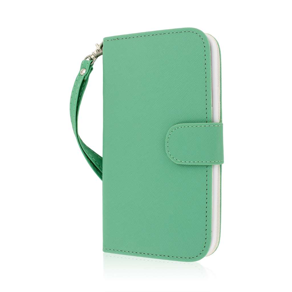 Samsung Galaxy Mega 5.8 - Mint MPERO FLEX FLIP Wallet Case Cover