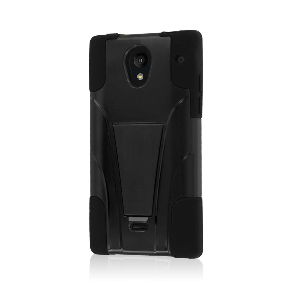 Sharp AQUOS Crystal - Black MPERO IMPACT X - Kickstand Case Cover