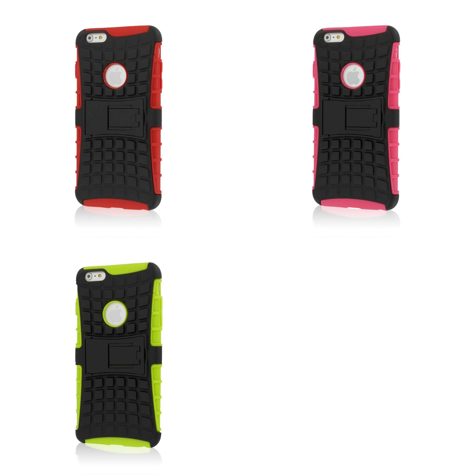 Apple iPhone 6 6S Plus - Red Combo Pack : MPERO IMPACT SR - Kickstand Case Cover