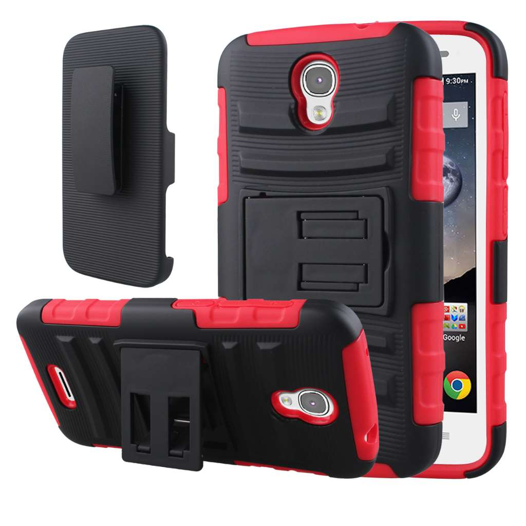 Alcatel OneTouch POP Astro - Red MPERO IMPACT XT - Kickstand Case Cover