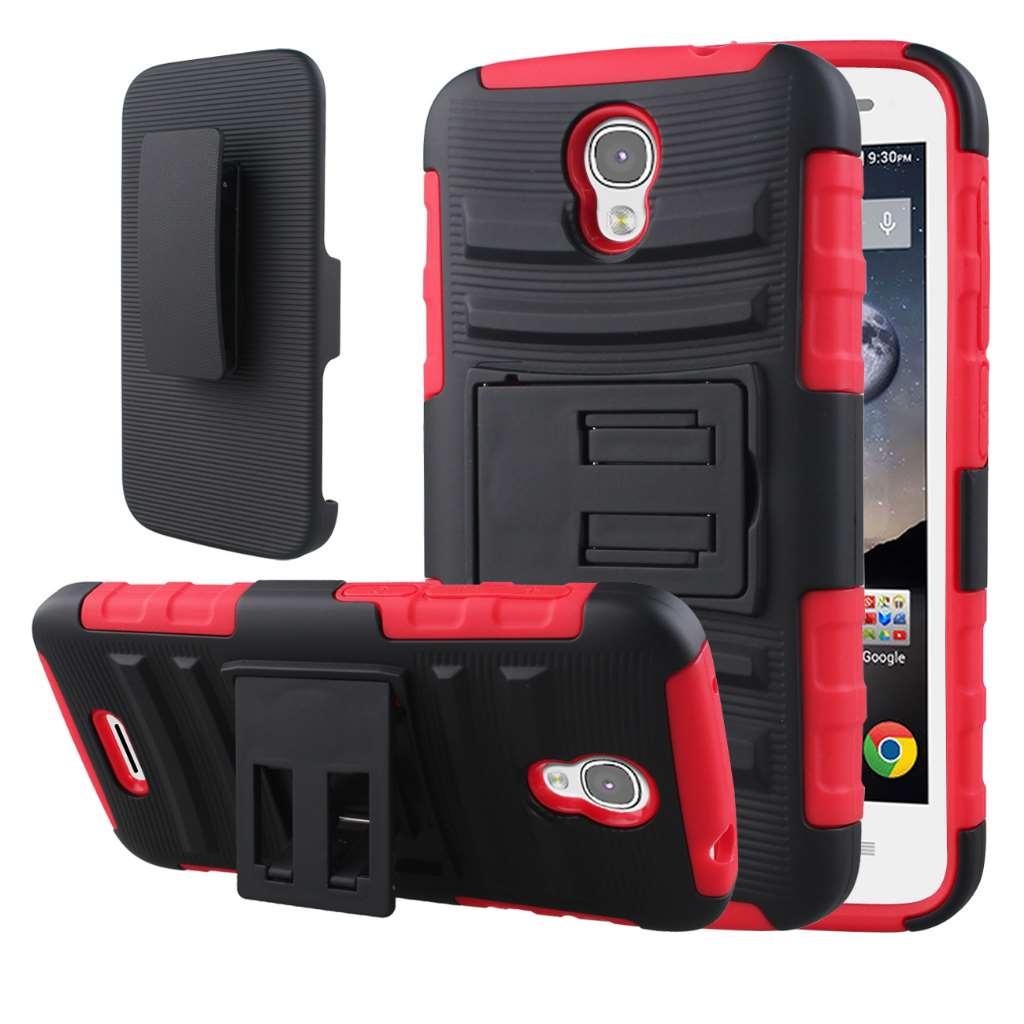 Alcatel OneTouch POP Astro - Red MPERO IMPACT XT - Kickstand Case Cover