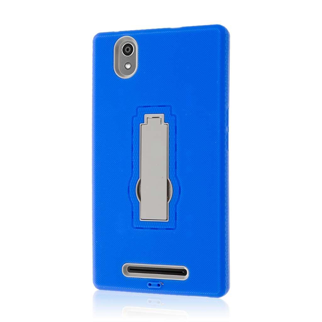 ZTE ZMAX - Blue MPERO IMPACT XS - Kickstand Case Cover
