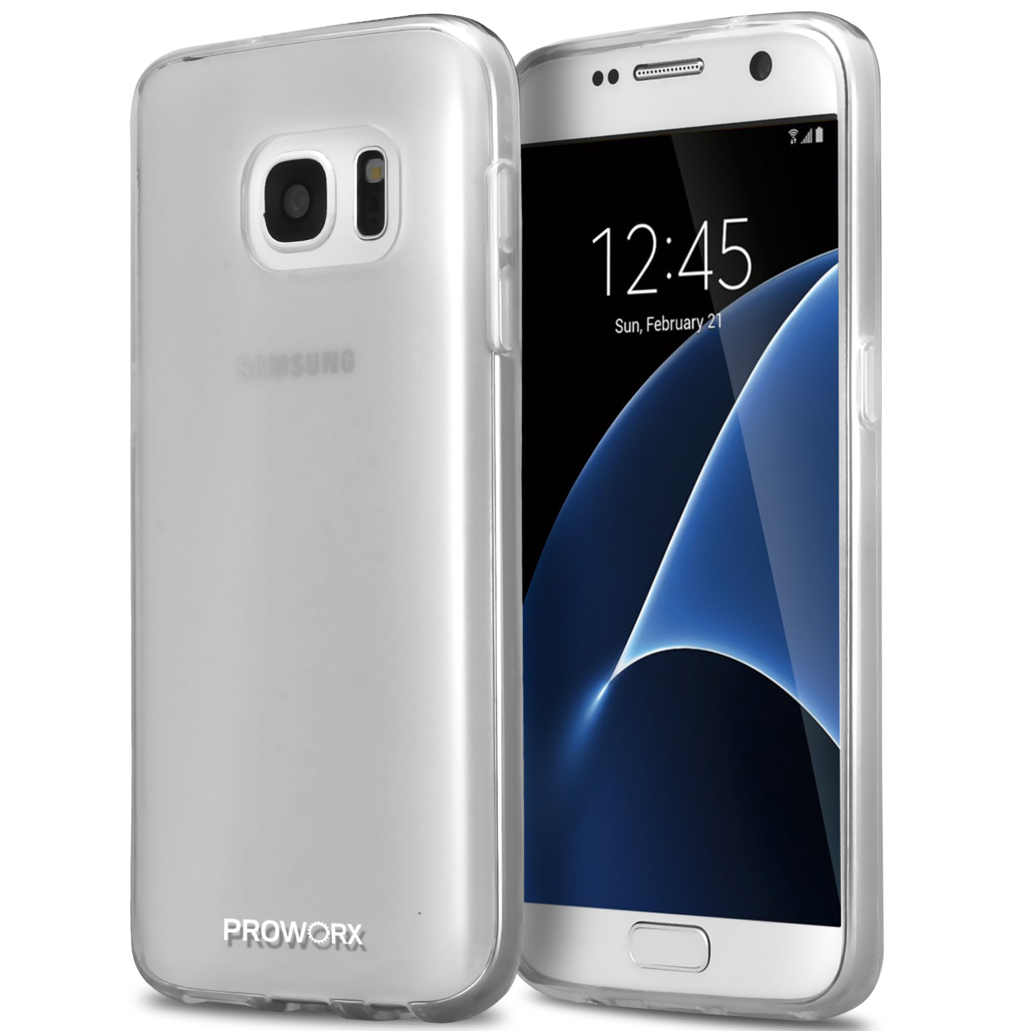 Samsung Galaxy S7 Clear ProWorx Ultra Slim Thin Scratch Resistant TPU Silicone Case Cover