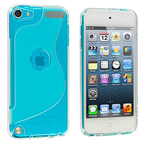 Apple iPod Touch 5th 6th Generation Clear S-Line TPU Rubber Skin Case Cover
