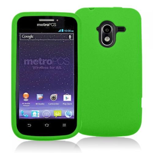ZTE Avid 4G N9120 Neon Green Silicone Soft Skin Case Cover