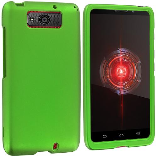 Motorola Droid Maxx XT1080m Neon Green Hard Rubberized Case Cover