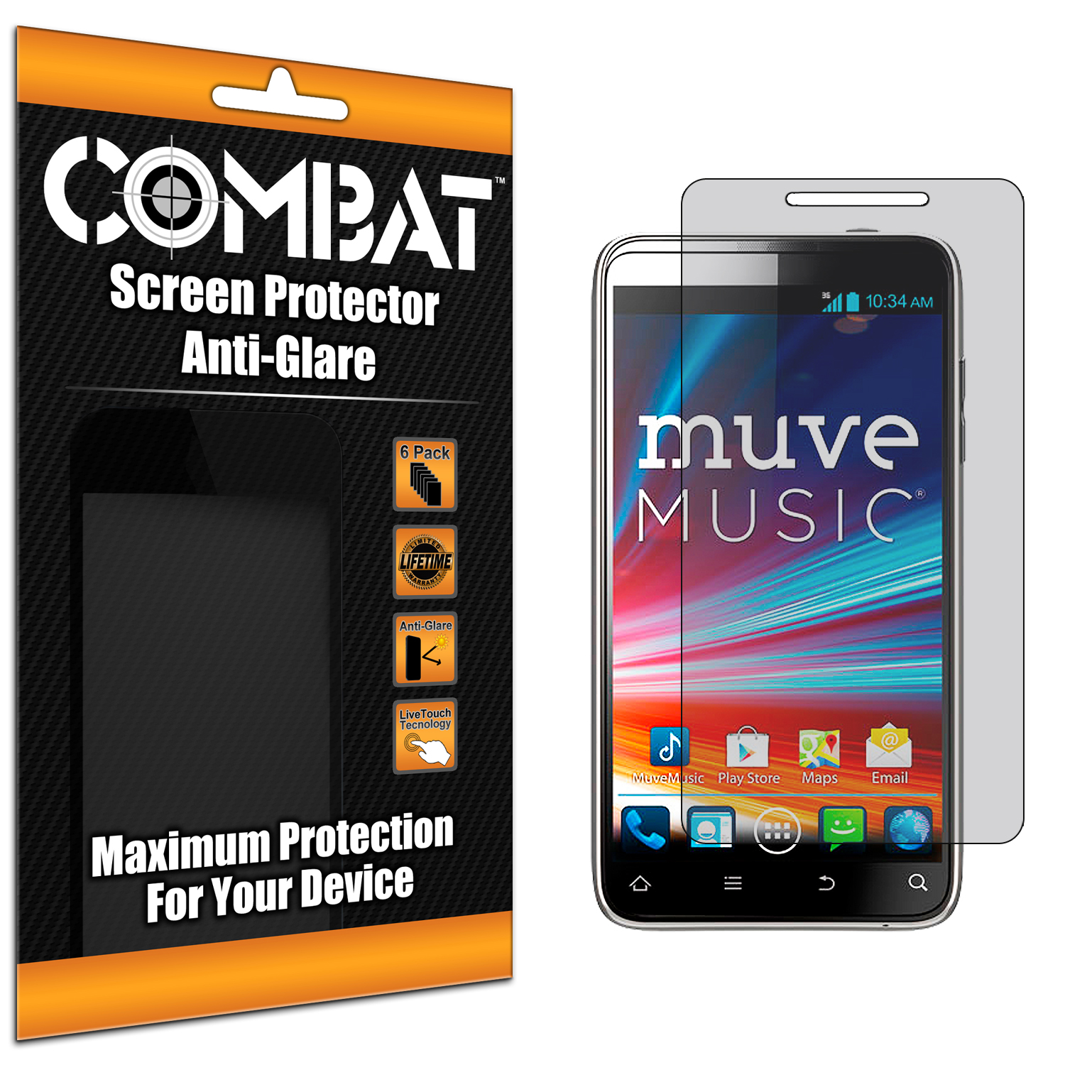 ZTE Engage LT N8000 Combat 6 Pack Anti-Glare Matte Screen Protector