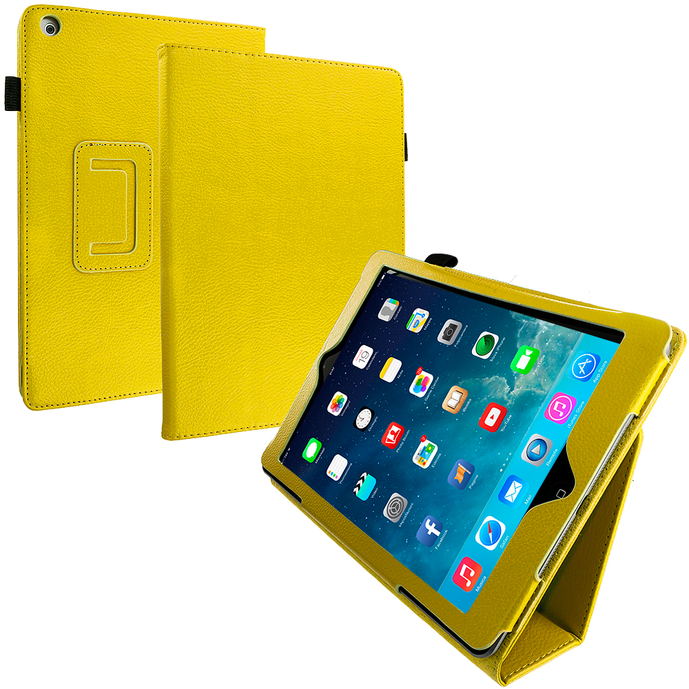 Apple iPad Air Yellow Folio Pouch Case Cover Stand