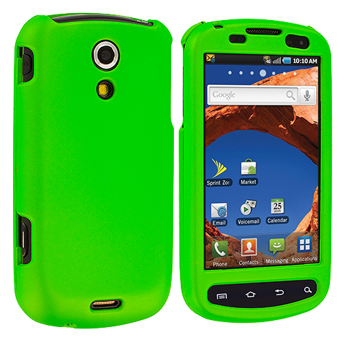 Samsung Epic 4G Neon Green Hard Rubberized Case Cover