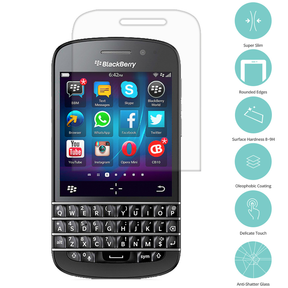 Blackberry Q20 Classic Clear Tempered Glass Film Screen Protector Clear