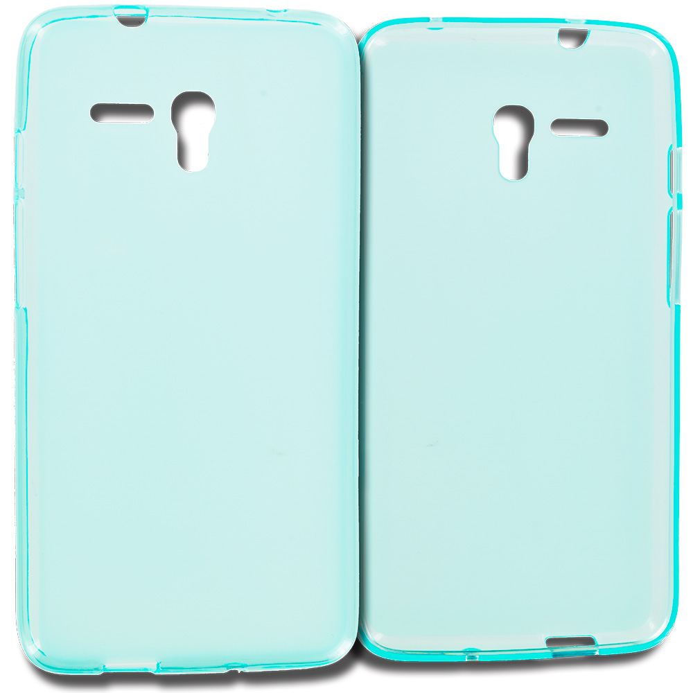 Alcatel OneTouch Fierce XL Baby Blue TPU Rubber Skin Case Cover