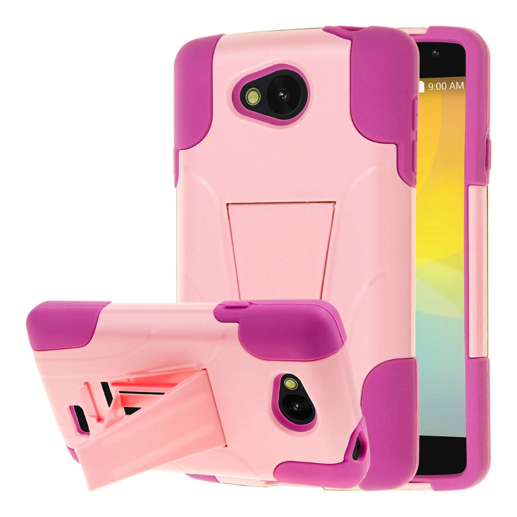 LG F60 - Pink MPERO IMPACT X - Kickstand Case Cover