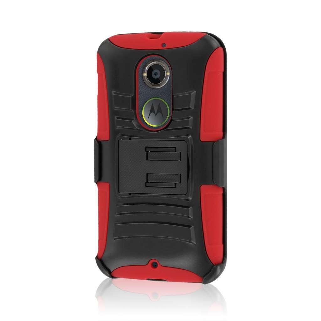 Motorola Moto X 2014 2nd Gen - Red MPERO IMPACT XT - Kickstand Case Cover