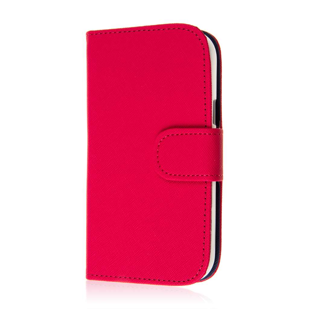 ZTE Grand S Pro - Hot Pink MPERO FLEX FLIP Wallet Case Cover