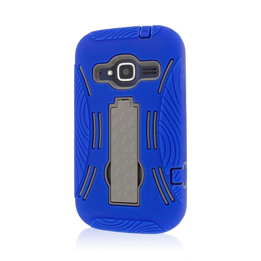 ZTE Concord 2 - Blue MPERO IMPACT XL - Kickstand Case Cover