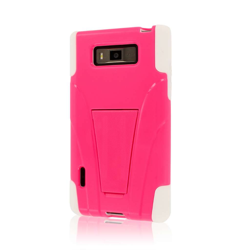 LG Splendor / Venice US730 - Hot Pink MPERO IMPACT X - Kickstand Case Cover