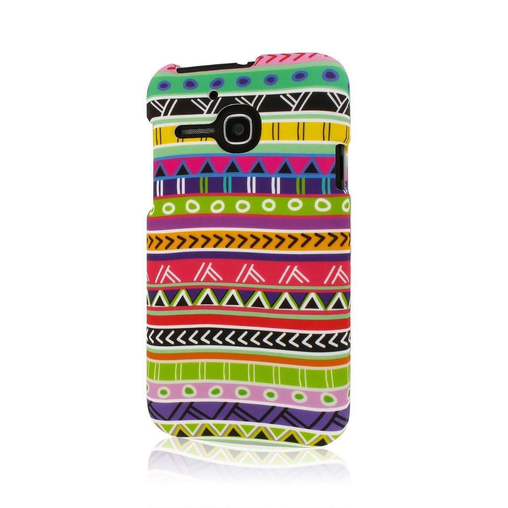 Alcatel OneTouch Evolve - Aztec Fiesta MPERO SNAPZ - Rubberized Case Cover