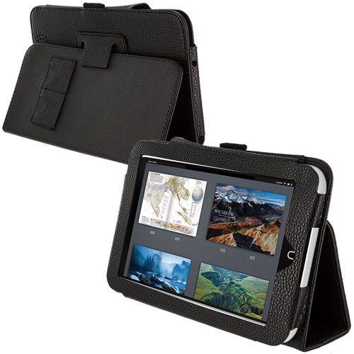 Barnes & Noble Nook HD 7.0 Black Folio Pouch Case Cover Stand