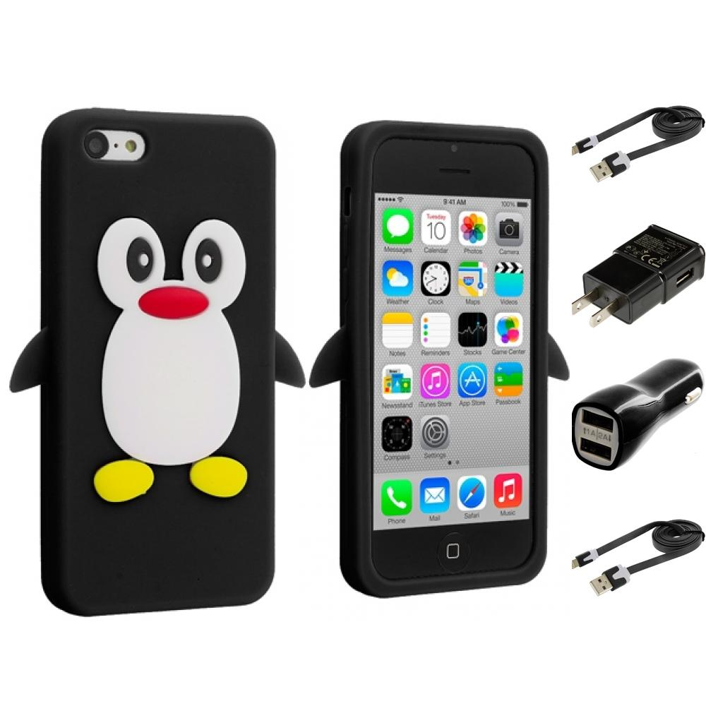 Squishy Gel Iphone Case : For iPhone 5C Penguin Case Silicone Cute Soft Rubber Gel Skin Cover 2X Chargers eBay