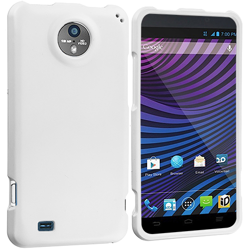 ZTE Vital N9810 White Hard Rubberized Case Cover