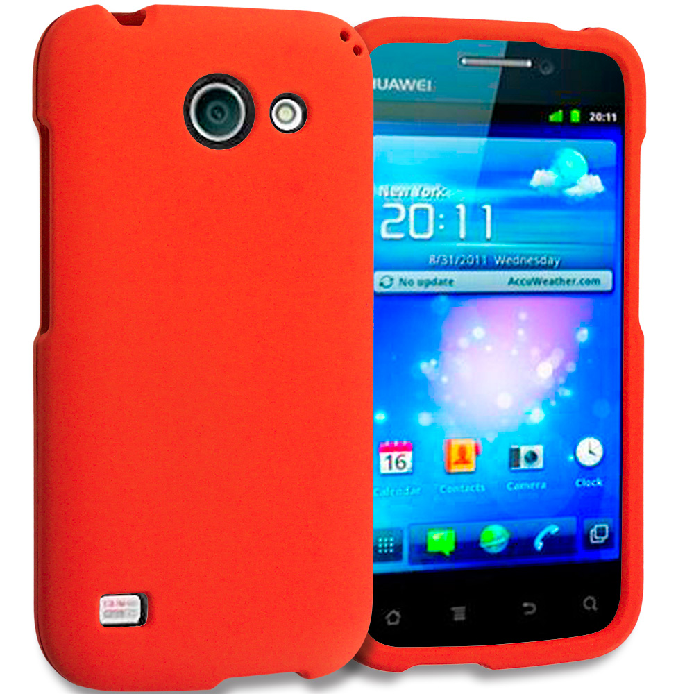 Huawei Tribute Fusion 3 Y536A1 Orange Hard Rubberized Case Cover