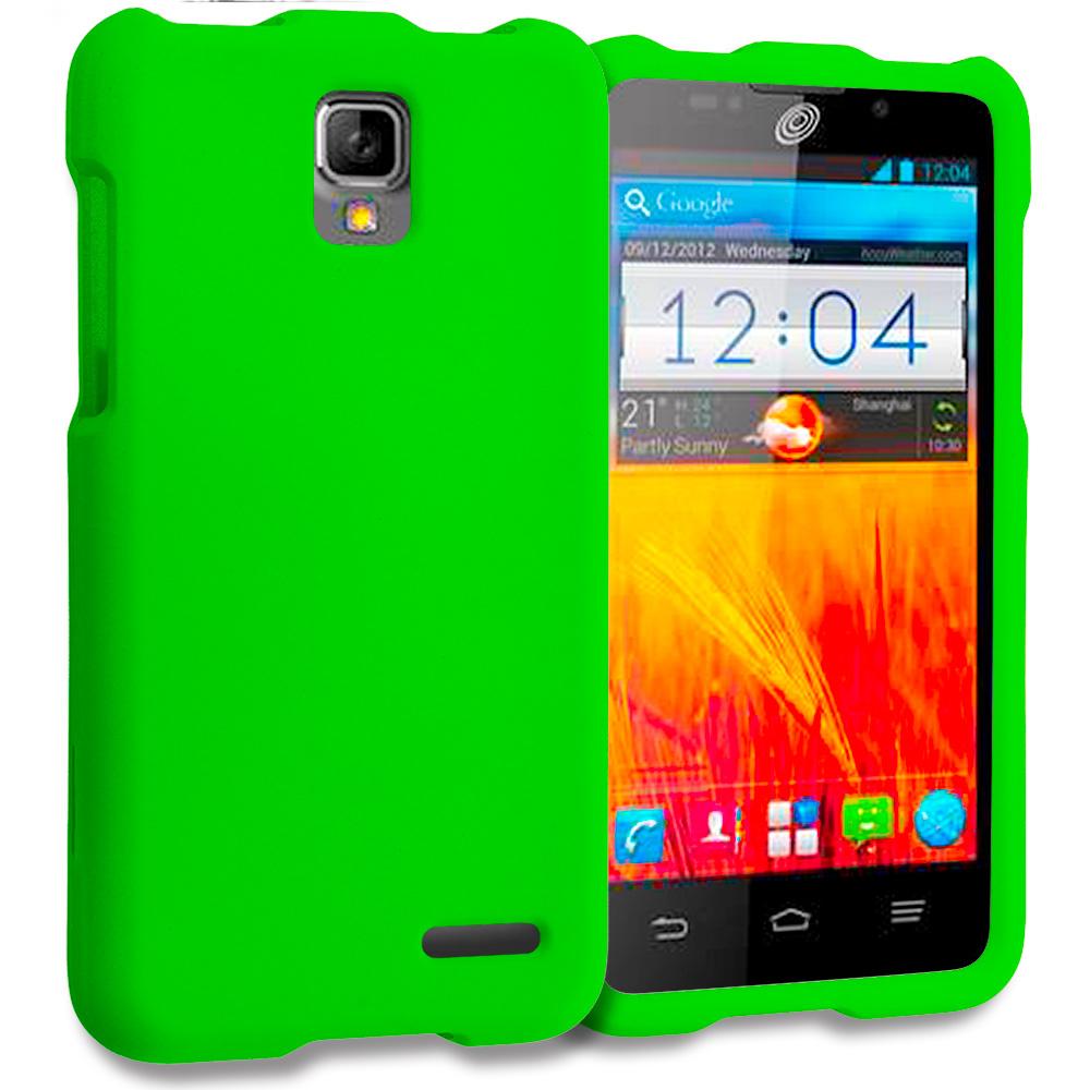 ZTE Rapido Z932C Neon Green Hard Rubberized Case Cover