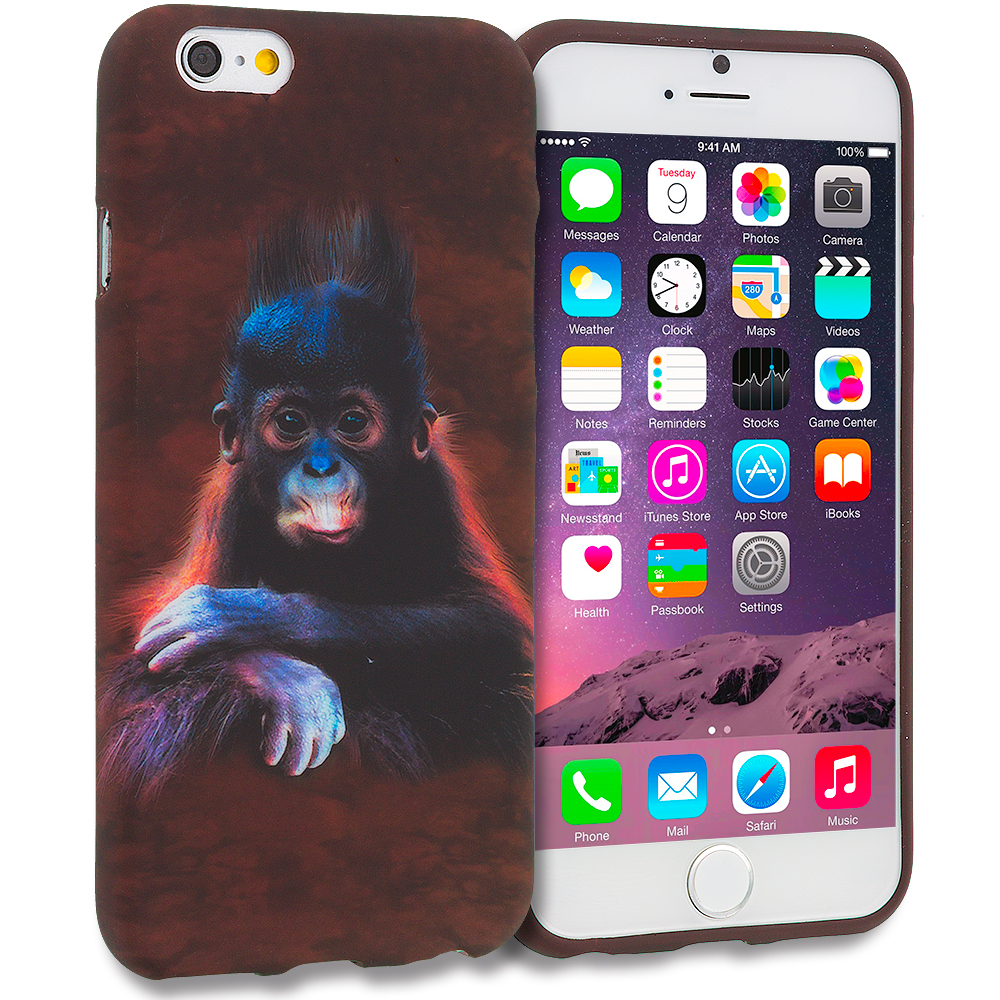 Apple iPhone 6 6S (4.7) Monkey TPU Design Soft Rubber Case Cover