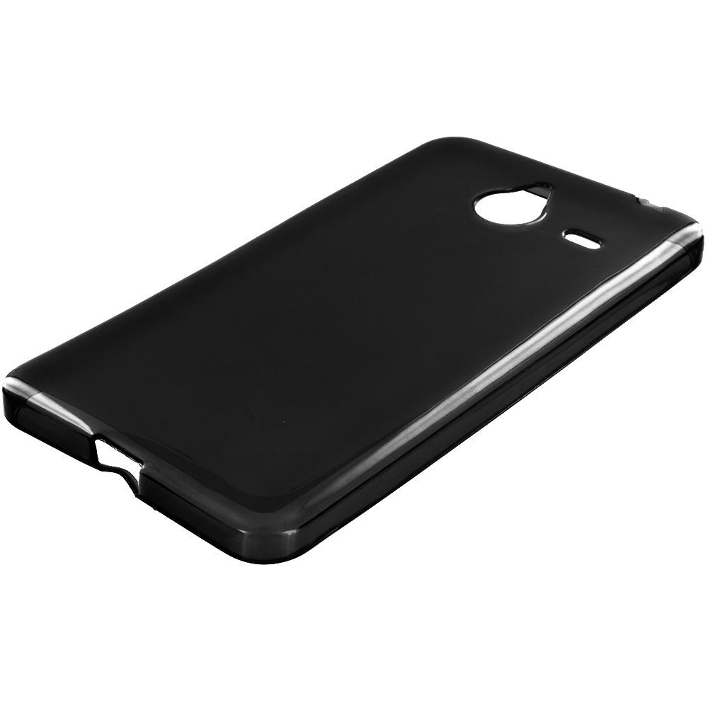 Microsoft Lumia 640 XL Black TPU Rubber Skin Case Cover