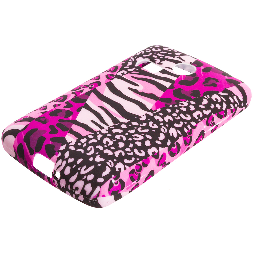 LG Sunrise Lucky L15G L16C Bowknot Zebra TPU Design Soft Rubber Case Cover