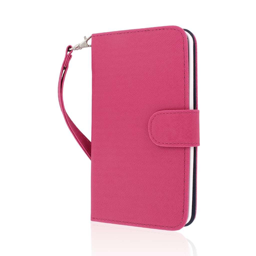 LG G Pro 2 - Hot Pink MPERO FLEX FLIP Wallet Case Cover