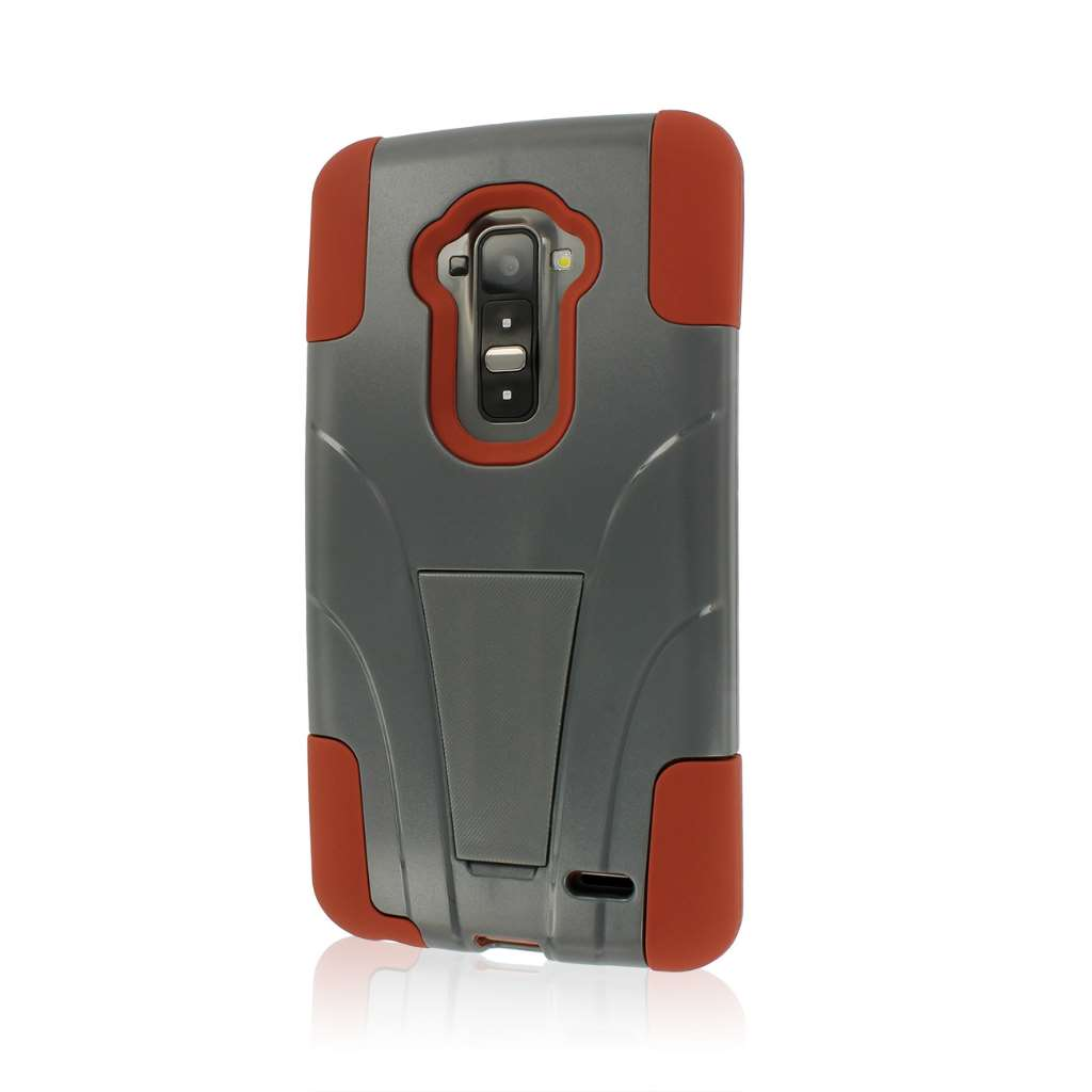 LG G Flex - Sandstone/ Gray MPERO IMPACT X - Kickstand Case Cover