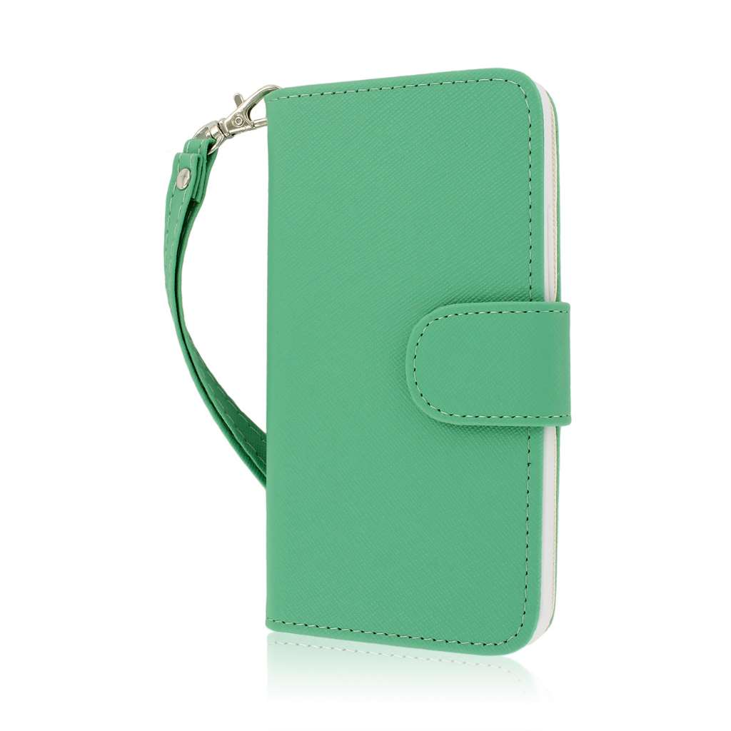 HTC One - Mint MPERO FLEX FLIP Wallet Case Cover