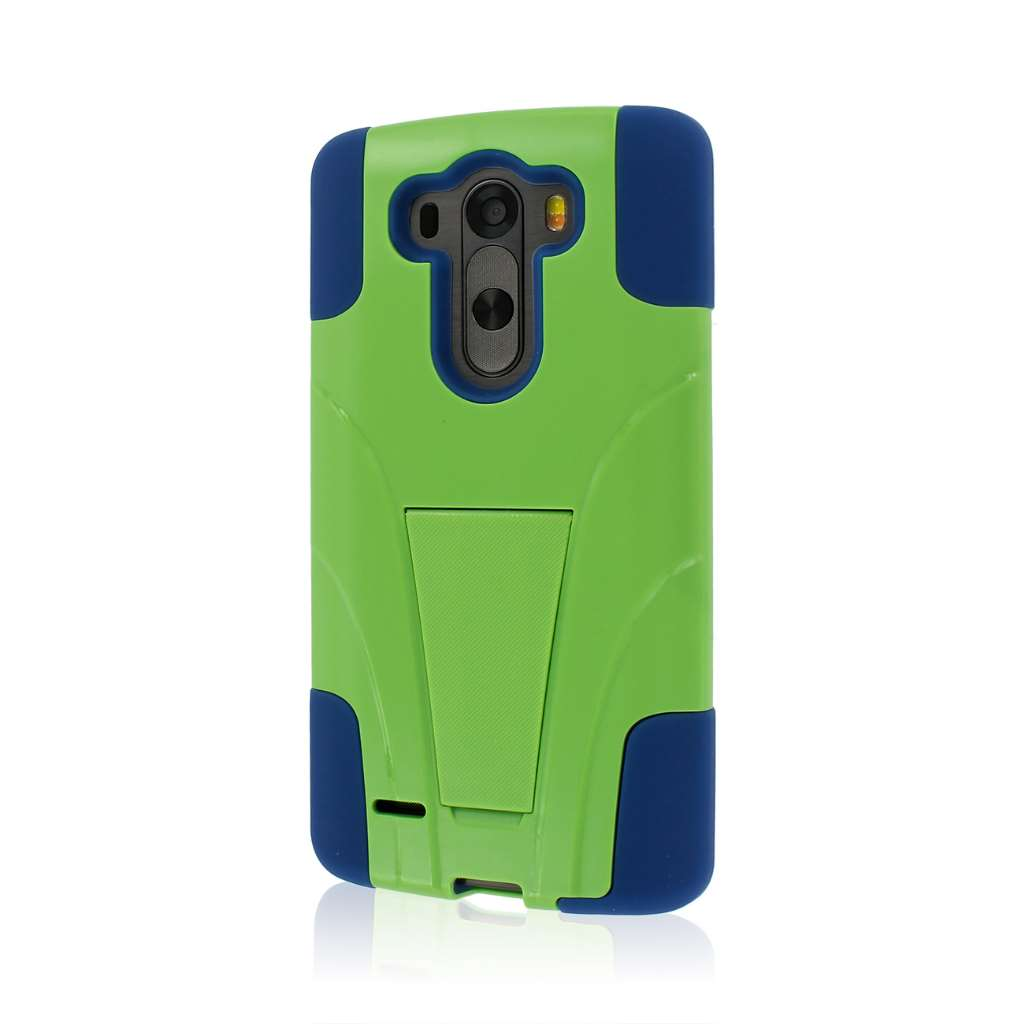 LG G3 - Blue / Green MPERO IMPACT X - Kickstand Case Cover