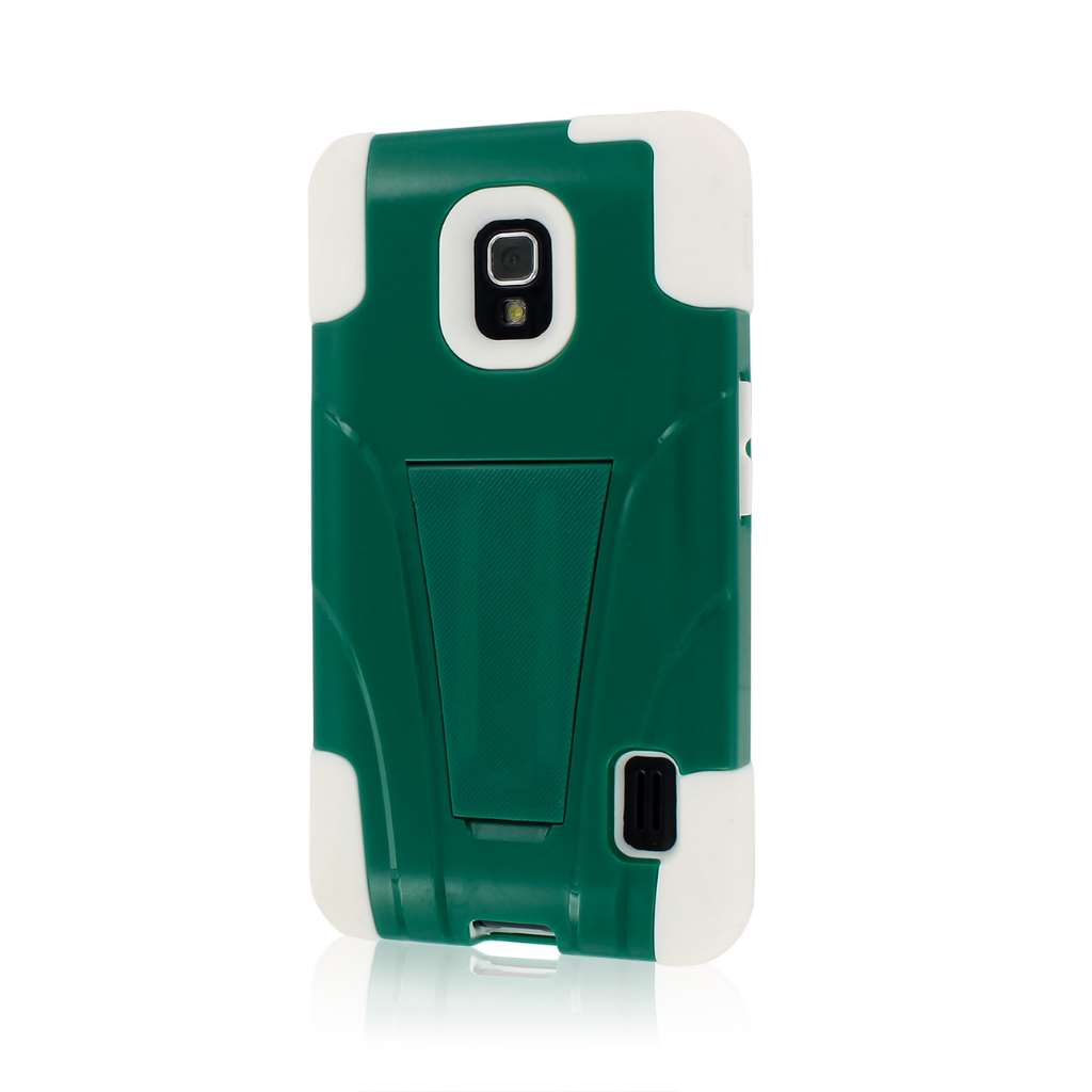 LG Optimus F6 D500 - Teal Green MPERO IMPACT X - Kickstand Case Cover