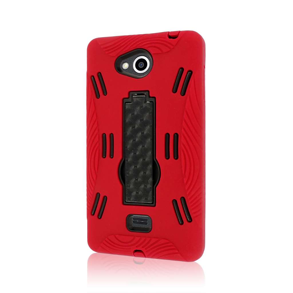 LG Spirit MS870 - Red MPERO IMPACT XL - Kickstand Case Cover