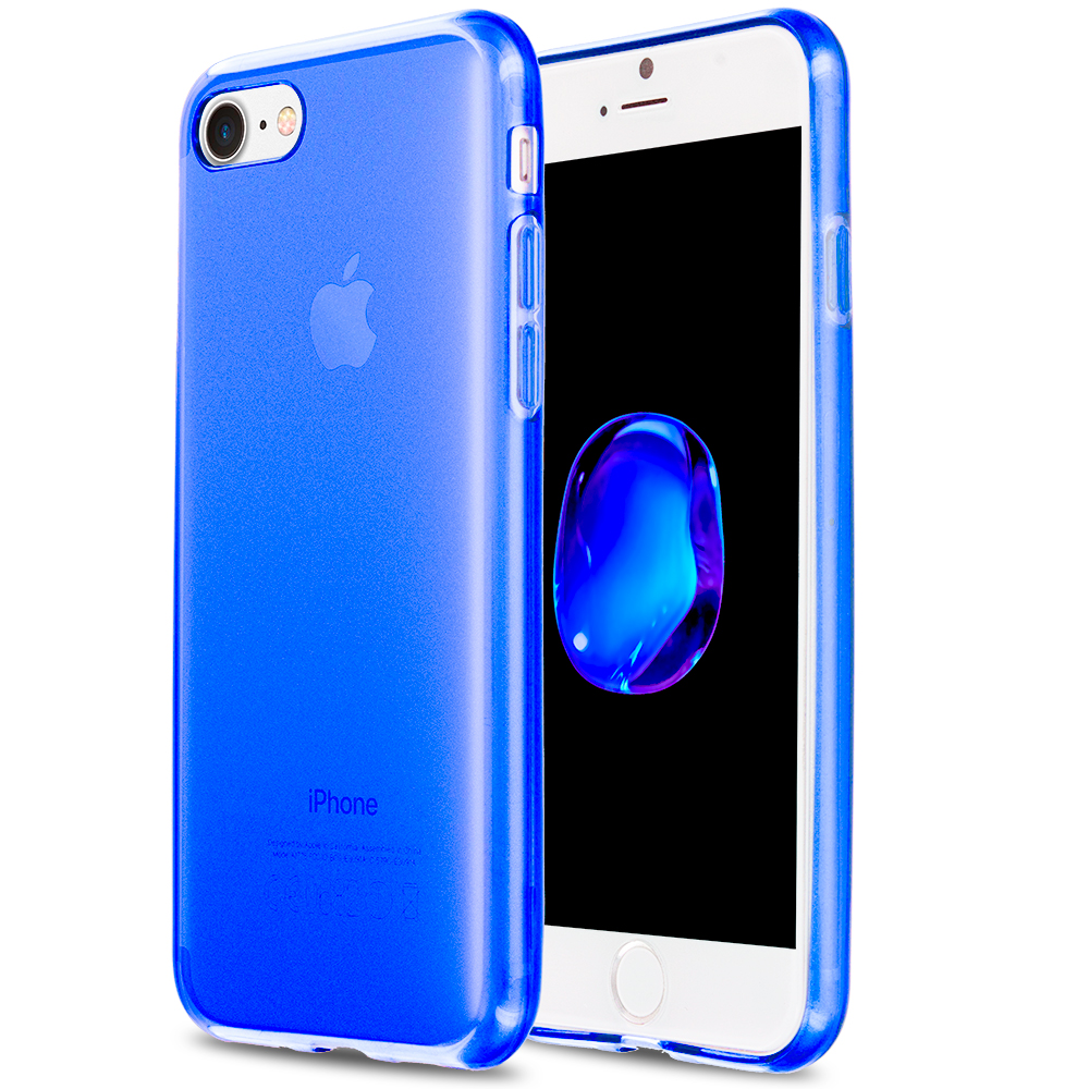 Apple iPhone 7 Plus Blue TPU Rubber Skin Case Cover