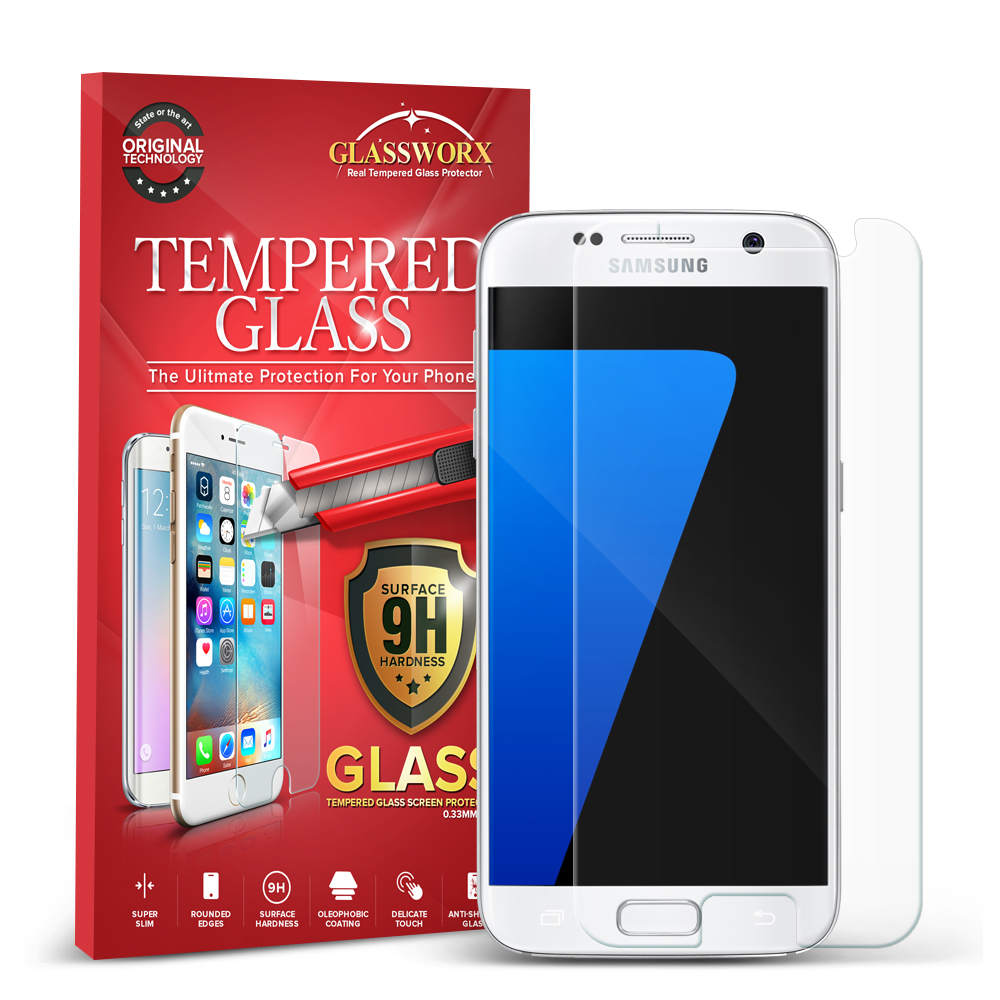 Samsung Galaxy S7 Clear GlassWorX HD Tempered Glass Screen Protector
