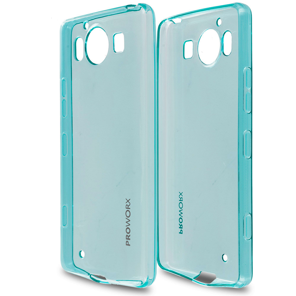 Microsoft Lumia 950 Mint Green ProWorx Ultra Slim Thin Scratch Resistant TPU Silicone Case Cover