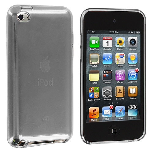 Apple iPod Touch 4th Generation Clear Plain TPU Rubber Skin Case Cover