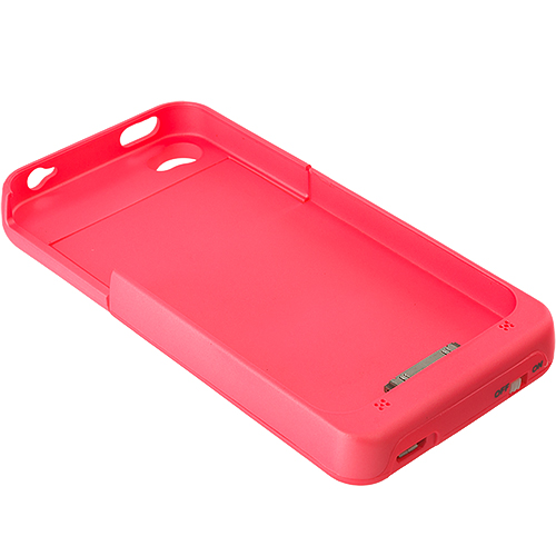 Apple iPhone 4 / 4S 2500mAh Pink External Backup Battery Case Cover