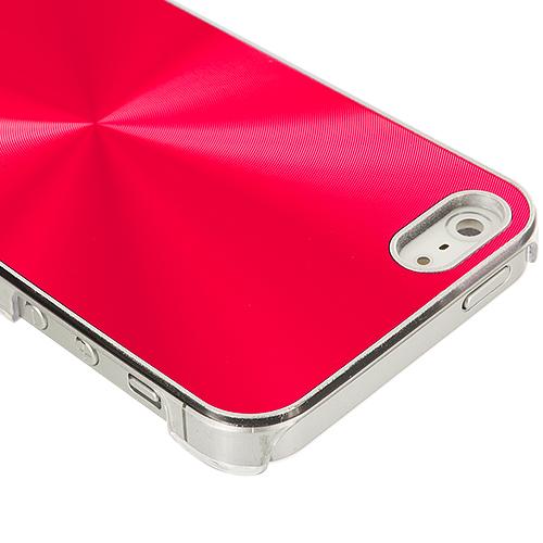 Apple iPhone 5/5S/SE Red Aluminum Circles Case Cover